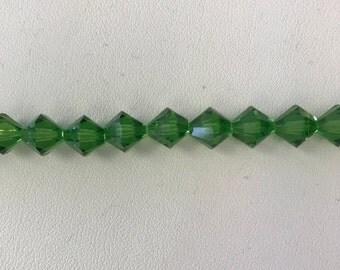 5328 Swarovski® 8mm Bicone - Fern Green - 24 pieces