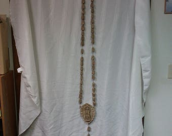 Rosary (Large) #1 hand carved and made from bone in mid-1900s
