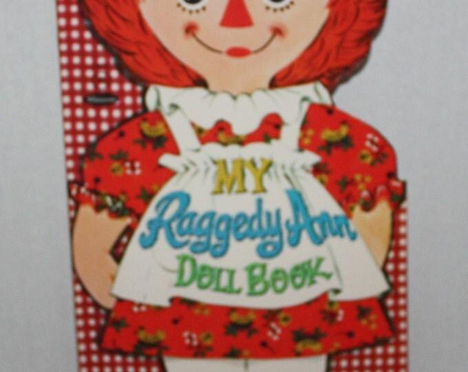 Vintage 1967 Whitman My Raggedy Ann Paper Doll Book Uncut!