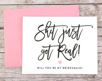Will You Be My Bridesmaid Card, Will You Be My Maid of Honor Card, Funny Bridesmaid Card, Funny Bridesmaid Proposal - (FPS0047)