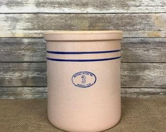 Marshall Pottery Crock, 3 Gallon Crock, Marshall Pottery, Ceramic Crock, Old Crock, Large Crock, Crock, Modern Farm House Decor