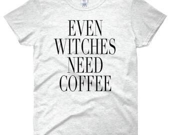 Funny Halloween Shirt, Halloween Shirt, Even Witches need Coffee,Coffee Lover, Coffee, Halloween, Fall Shirt,Fall,Autumn,