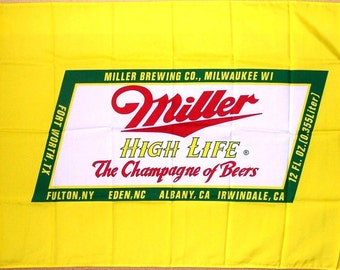 SUMMER SALE: Miller High Life Flag and Banner 3' x 5'