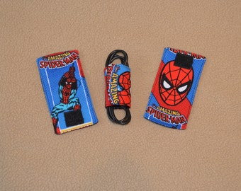 Spiderman Cord wrap organizers for chargers & other electronic cords
