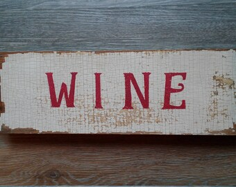 Wine Sign with wine corks-rustic.