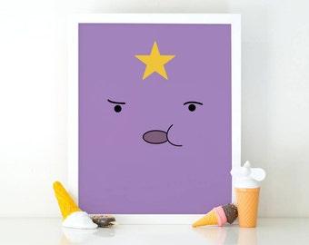 Lumpy Space Princess, Adventure Time, Cartoon printable, Printable art, Instant Download, Adventure time art, Cartoon print, room decor