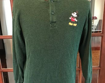 Vintage 1990's Mickey Mouse Disney Store Long Sleeve Shirt