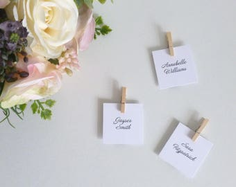 Handmade square place cards   Etsy