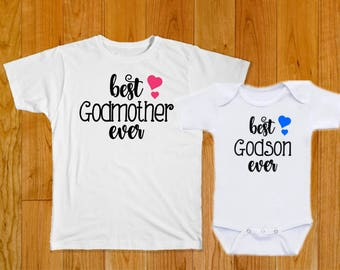 Best Godmother Godson Ever - Godson Gift - Godmother Gift - Godson Shirt - Godmother Shirt - Gift for Godson from Godmother - Godson Tshirt