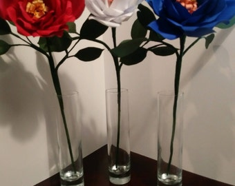 Red, White & Blue Independence Day Handcrafted Flowers!