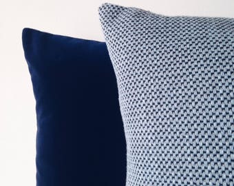 Blue Tweed Cushion Cover