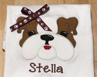 Girl Bulldog Shirt 2