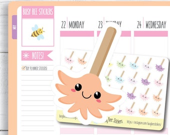 Duster Planner Stickers, Cleaning Stickers, Chore Stickers, Household Stickers, Kawaii, Mini, Happy Planner Stickers, Erin Condren Sti