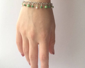 Dark Green Beaded Bracelet