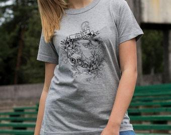 Screen printed Pisces zodiac T-shirt