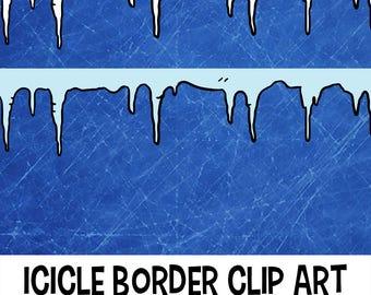 Icicle Border Clip Art, Classroom Download, Icicle Background, Icicle ClipArt, Clip Art Frame, Icicle Clip art, Frame Clipart, Icicle Frame