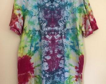 Psychadelic rainbow XL t-shirt tee