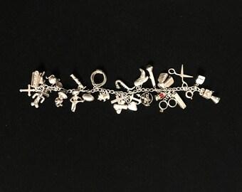 Unique Sterling Silver Charm Bracelet