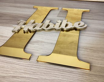 FREE SHIPPING, Large Letter, Acrylic Sign, Nursery Wall Decor, Nursery Name Sign, Kids Name Sign, Acrylic Letters, Letter With Name, Mirrors