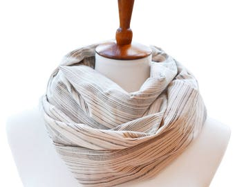 Winter Infinity Scarf - Beige Scarf - Winter Scarf - Chunky Scarf  - Winter Gift - Scarves for Women - Clothing-gift for Gilfriend