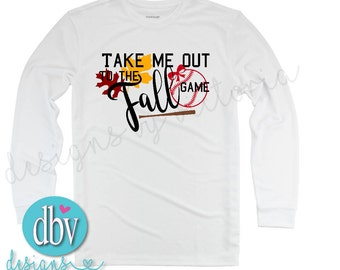 Take Me Out to the Fall Game Baseball Tee
