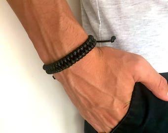Men's Bracelets, Black Macrame Bracelet, Rope Bracelet, Men's jewelry, Gift For Him, Adjustable Bracelet, Bracelet For Men, Gift Men
