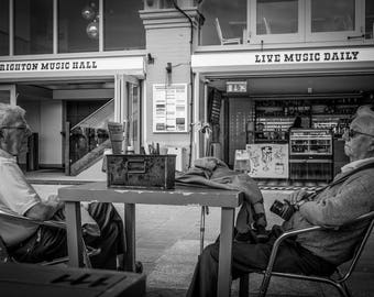 Brighton beach, UK, Travel photography, Old Mates, Black and White photography, Fine Art Photography, Brighton