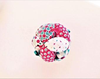 Gripping Montessori ball tags mind awakening ball Scandinavian fuchsia, blue