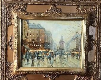 London Framed Oil Painting