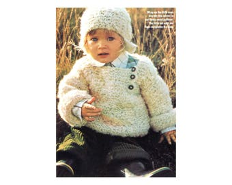 Soft Babies Sweater & Hat Knitting Pattern