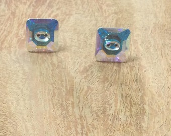 """De.oreilles Swarowsky """"Button"""" color Crystal earrings"""