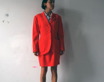 Color POP 1980's statement WORKING GIRL french power suit
