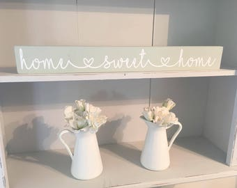 Home Sweet Home - Vintage Style Wooden Plaque