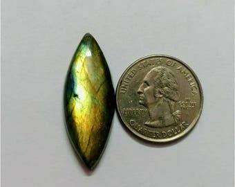 36.40 x 13.64 mm, Marquise Shape Labradorite Cabochon/Golden flaseh/Attractiv Labradorite/wire wrap stone/pendent size Labradorite/ Cabochon