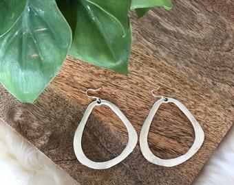 vintage organic shape earrings | jewelry