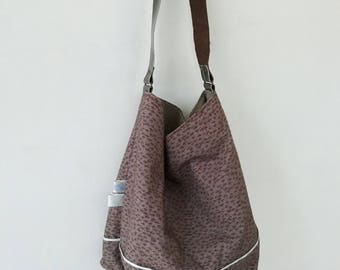 Louisette pattern purse in cotton and linen lining