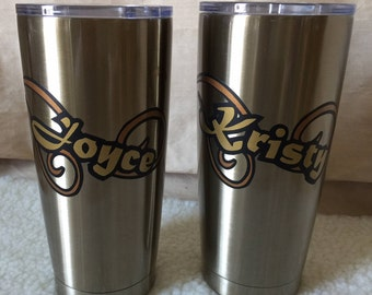 Personalized Double-Wall Aluminum Tumblers