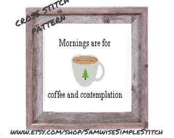 Stranger Things mornings are for coffee and contemplation cross stitch PATTERN