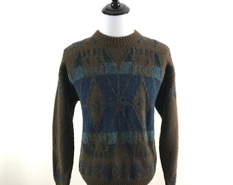 Vintage 1990s, Men's Large, Wool Ski Sweater