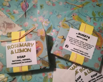 Lemon and rosemary Natural soap