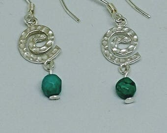 Turquoise Jasper & Sterling Silver Earrings