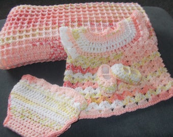 Handmade crochet super soft Blanket with sleep set