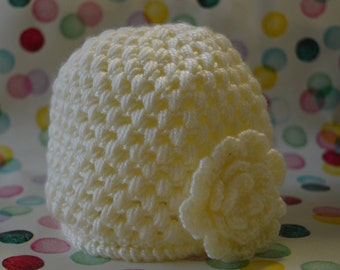 Baby girl's crochet beanie