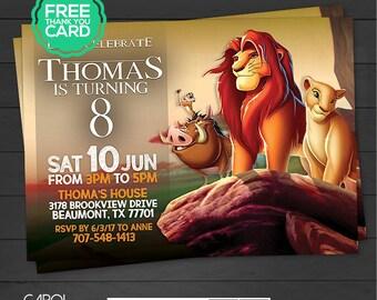 Lion King Invitation, Lion King Birthday Invite, Lion King Printables, Lion King Party, Lion King Birthday, Simba, Mufasa, Digital Invite