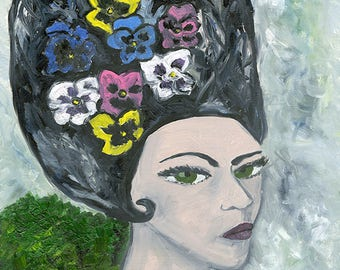 Pansy.  Limited edition print by Vivienne Strauss.