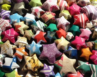 Flat Rate Box Crammed Full with Origami Lucky Stars