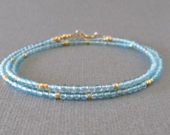 Apatite Wrap Bracelet/ Apatite Necklace/ Apatite Bracelet/ Apatite Beaded Wrap Bracelet/ Apatite Beaded Necklace/ Apatite Beads