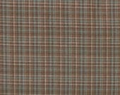 Brown and Teal Plaid Yarn Dye 100% Cotton Quilt Fabric for Sale, Kim Diehl's Helping Hands Yarn Dyes Collection, HEG6884Y-33