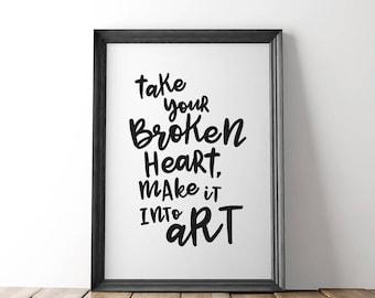 Carrie Fisher, Art Print, Self Care, Princess Leia, Mental Health, Nasty Women, Anti Trump,  Feminism, Sympathy Gift, Condolence Gift,