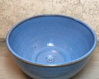 Blue Bowl - Vibrant Blue Stoneware Cereal Bowl - Handmade Ceramic Bowl - Soup Bowl - Ice Cream Bowl - Rustic Blue Bowl - Stoneware Bowl